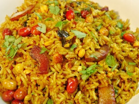 Chitranna (Lemon Rice), Chitranna is a type of fried recipe which is very widely prepared in Karnataka. Its very easy and flavorful. For detail recipe please visit http://madhurasre...
