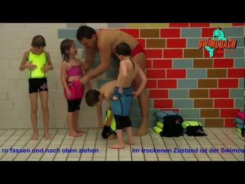 Swimcoach - der schwimmende Badeanzug - Tips zum An- und Ausziehen