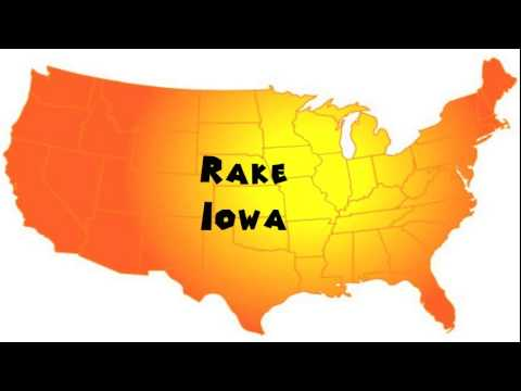 How to Say or Pronounce USA Cities — Rake, Iowa