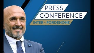 Live! Luciano Spalletti's press conference ahead of Inter vs. Pordenone HD|SUBS