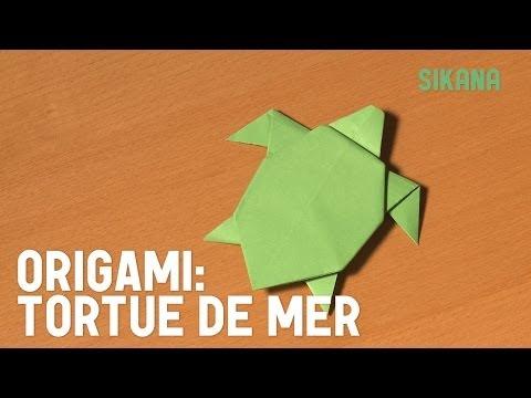 Comment faire une tortue de mer en papier ?