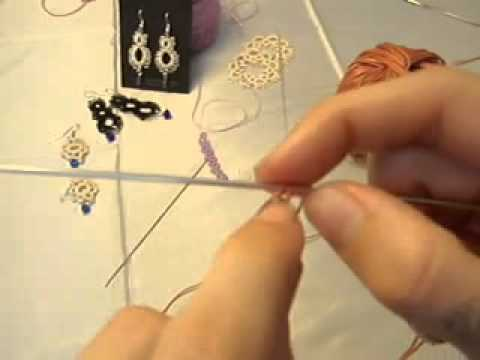 Needle Tatting How To: single tatted ring