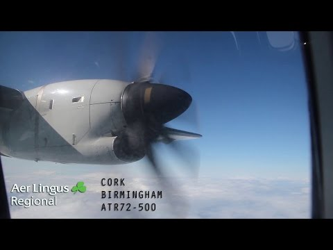 Aer Lingus ATR72 - Cork to Birmingham - Full Flight (With ATC)