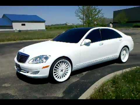 Flat White Pearl 2007 Mercedes Benz S550 With 22 Quot Asanti S