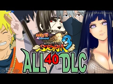 All 40 Alternate DLC Costumes! | NARUTO STORM 3【FULL HD 1080p】★