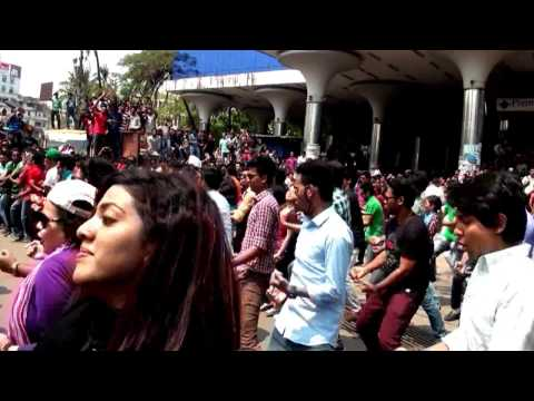 ICC World T20 Bangladesh 2014, Flash Mob - Premier University,Chittagong