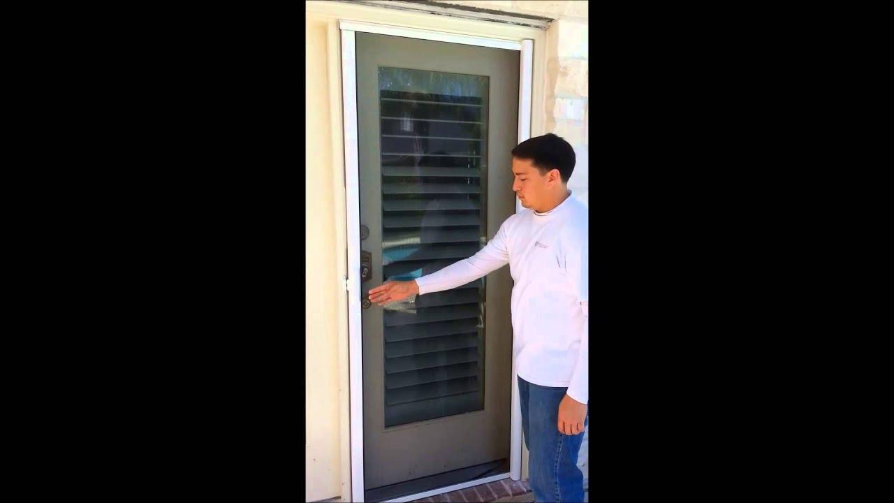 Cinco Retractable Screen Door Youtube
