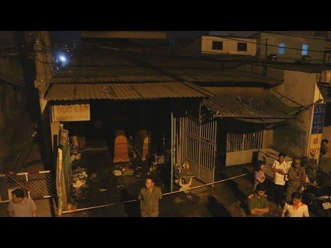 Cháy trại hòm, cả nhà 4 người chết cháy ở Sài Gòn