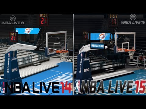 NBA LIve 15 vs NBA Live 14 - Graphics!