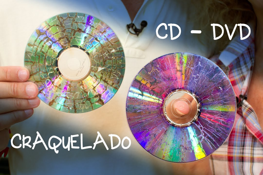 Cd o dvd craquelado para bisuteria o decoracion youtube - Cd decorados de navidad ...