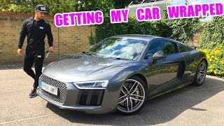 WRAPPING MY NEW AUDI R8!
