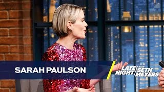 Sarah Paulson Got Freaked Out by a Pilot Whispering Her Name