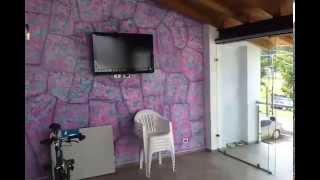 Pintar muro con efecto piedra