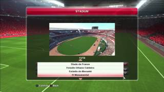 Pro Evolution Soccer 2014 (PES 2014) Stadium List