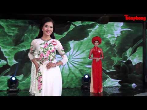 Phần thi áo dài - Chung khảo phía Bắc Hoa hậu Việt Nam 2014