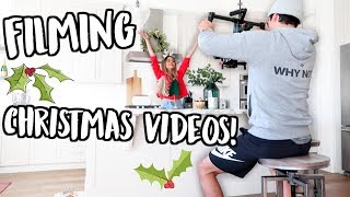 FILMING CHRISTMAS VIDEOS! VLOGMAS DAY 4!