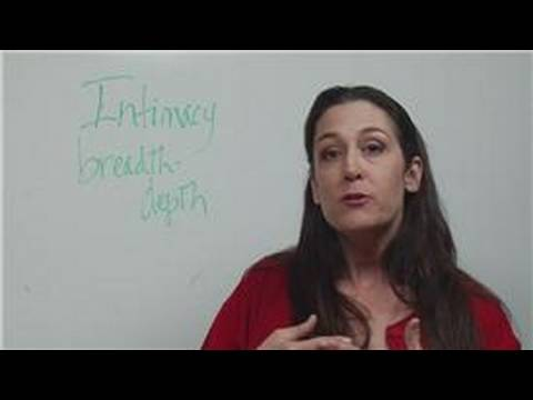 How to Build Relationships: Intimacy Stage