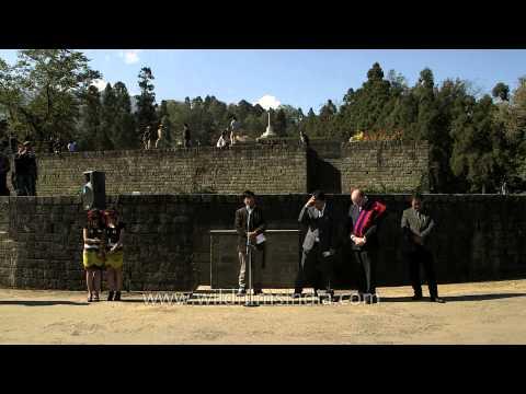 Invocation at World War II Peace Rally, Nagaland