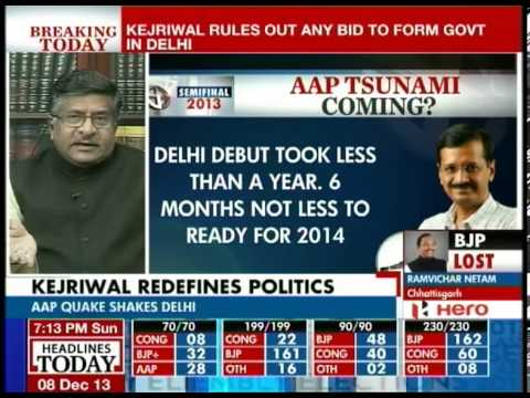 AAP can dream of making other parties irrelevant: Ravi Shankar Prasad