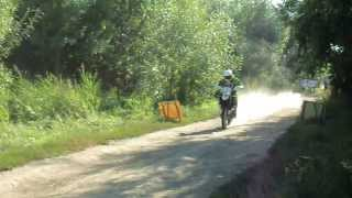 Hungarian Baja 2013 - partenza prologo di Rustam Shaimardanov su HUSQVARNA TE 449 RALLY