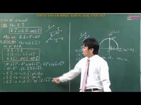 Toán hình học 10 - Tích vô hướng của hai vecto và ứng dụng - Tích vô hướng của hai vectơ
