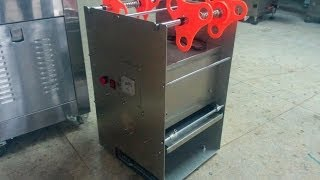 Square Boxes Plastic Food Containers Film Sealing Machine