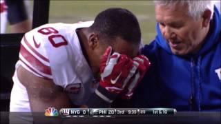 Victor Cruz Hurt With Torn Patellar Tendon During Eagles vs Giants! #PrayForCruz