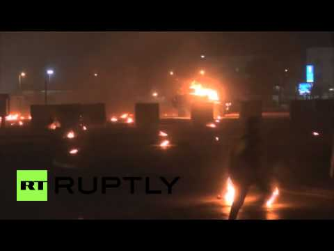Bahrain: Protesters rain fire on police in Sitra
