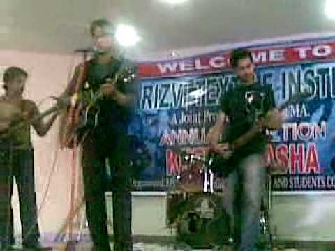 S.M.A RIZVI TEXTILE INSTITUTE SAOOD PLAYING GUITAR AT ANNUAL FUNCTION 2010