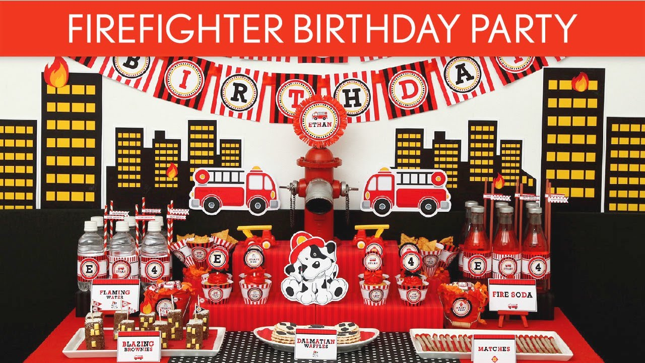 Firefighter Birthday Party Ideas B24 YouTube