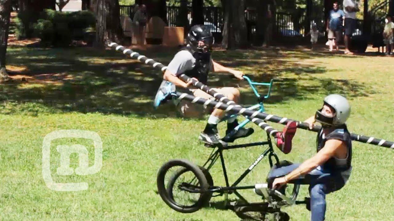 nude bike jousting