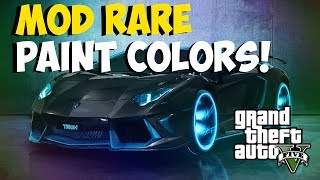 "GTA 5 Online: How To Get Modded Colors! ""Rare Paint Colors"