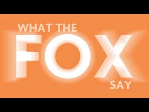Kinetic typography - What Does The Fox Say