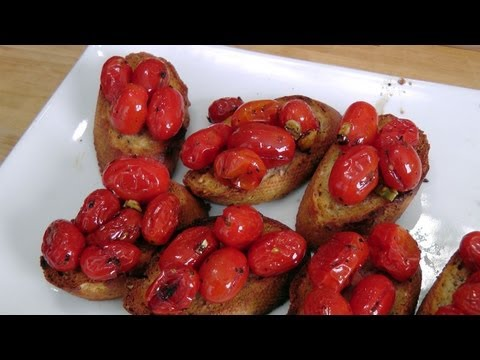 Roasted Cherry Tomato Bruschetta - Recipe by Laura Vitale - Laura in the Kitchen Ep181