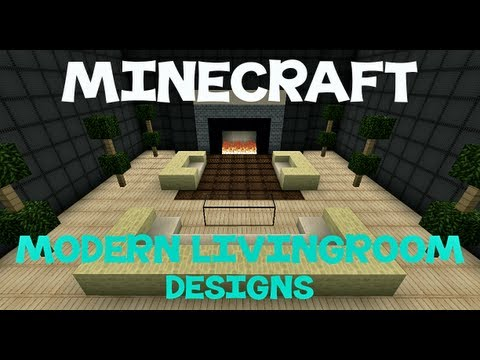 Minecraft modern living room designs youtube for Minecraft interior design living room