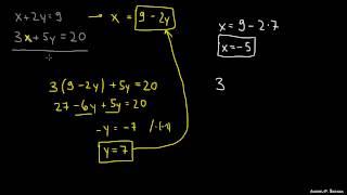 Reševanje sistema dveh enačb 1