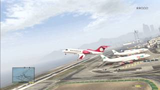 GTA V Flying Jet Plane & Getting Shot Down By Air Force
