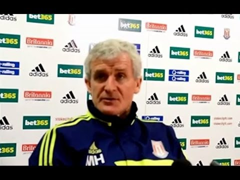 Mark Hughes clearly frustrated by ban on Charlie Adam + Norwich v Stoke City