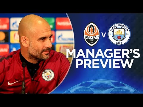 WE PLAY TO WIN | Pep Guardiola Press Conference | Shakhtar v Man City | Champions League
