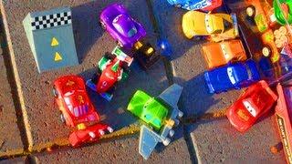 Cars 2 Stunt Ramp Action Agents McQueen Francesco