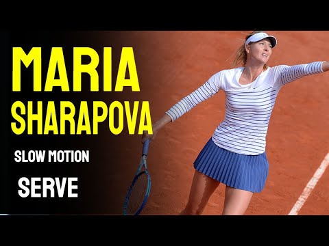 Maria Sharapova Slow Motion Serve Compilation