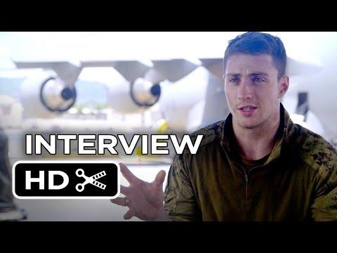 Godzilla Interview - Aaron Taylor-Johnson (2014) - Bryan Cranston Monster Movie HD