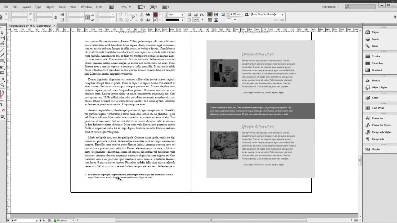 indesign book templates