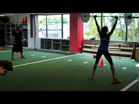Allyson Felix Trains at Velocity Sports Performance