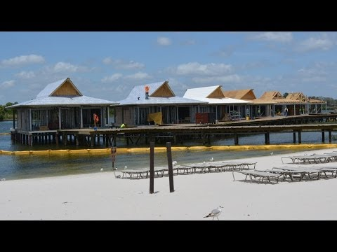 Disney's Polynesian Resort Disney Vacation Club Bungalow Construction, 360 Degree View Outside