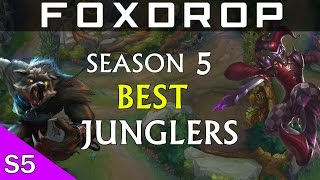 LoL Season 5 4 OP Junglers In The New Jungle