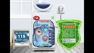 Mở Hộp Máy Giặt Toshiba 7 kg AW A800SV WB - Open Box Washing Machine Toshiba