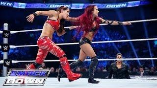 Nikki Bella & Brie Bella  vs. Naomi & Sasha Banks: SmackDown – 23 Juli 2015