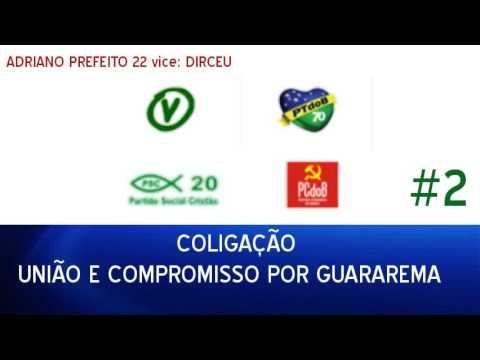 Eleições 2016: Inserção Vereadores Guararema-SP (PTdoB/PSC/PV/PCdoB) #2