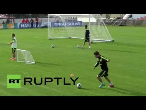 Brazil: Fabregas, Costa and Iniesta lead 'La Furia Roja' in training